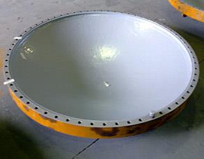 Heat exchanger's cover coated with Belzona 5891 (HT Immersion Grade)