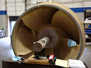 Impeller with cavitation damage